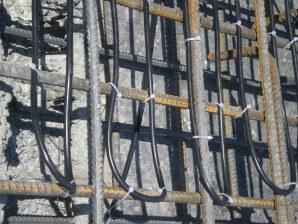 Fűtőkábelek rögzítése betonvashoz